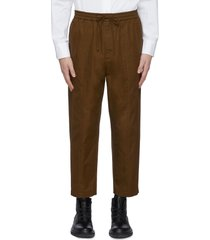 cropped cotton gabardine pants