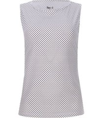 top estampado puntos color blanco, talla l