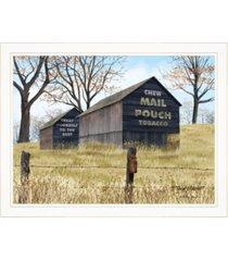 "trendy decor 4u treat yourself mail pouch barn by billy jacobs, ready to hang framed print, white frame, 27"" x 21"""