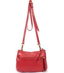 bolsa yasrro de couro aurora vermelho