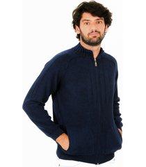 jaqueta officina do tricô grécia azul - kanui