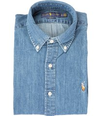 r.lauren slim denim shirt