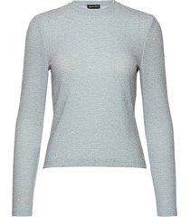 maya, 913 glitter jersey t-shirts & tops long-sleeved blauw stine goya