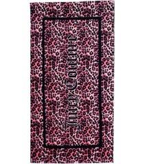 "juicy couture regent leopard border beach towel, 36"" x 68"" bedding"
