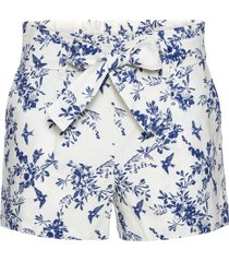 shorts in misto lino con fusciacca (bianco) - bodyflirt