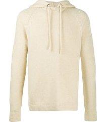 roberto collina hooded pullover knit jumper - neutrals