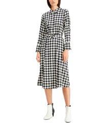 alfani plus size houndstooth-print midi dress, created for macy's