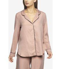 felina women's izar jacquard pajama shirt