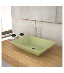 cuba de apoio p/banheiro compace messina rt45w verde acqua
