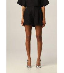 armani collezioni armani exchange short lurex pinstripe shorts