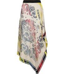golden goose multicolor silk skirt