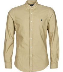 overhemd lange mouw polo ralph lauren chemise cintree slim fit en oxford leger type chino col boutonne