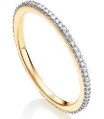 skinny diamond eternity ring, gold vermeil on silver