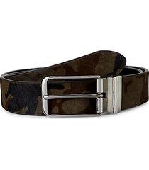 mcqueen reversible camo calf hair & leather belt