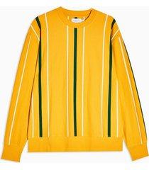 mens multi mustard and green stripe sweatshirt