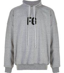 fear of god drawstring collar sweatshirt - grey