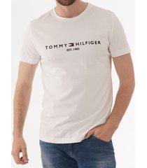 tommy hilfiger logo t-shirt - snow white mw0mw11465
