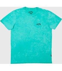 camiseta billabong archwave tie dye verde - verde - masculino - dafiti
