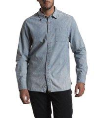 camisa denim celeste rockford