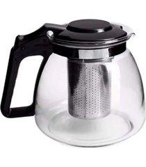 cafeteira chaleira infusã£o vidro cafã© chã¡ inox 1.200 ml - transparente - dafiti