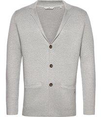knitted sakk stickad tröja cardigan grå tom tailor