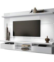 painel home suspenso 2.2 para tv atã© 60 sala de estar lennon branco - gran belo - branco - dafiti