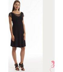 jurk pomkin jeanette voile jurk zwart