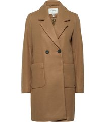 byc lia coat - wollen jas lange jas bruin b.young