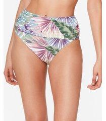 bleu by rod beattie its a breeze shirred high-waist bikini bottoms women's swimsuit