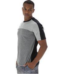 camiseta oxer geek - masculina - cinza escuro/preto