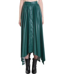isabel marant davies skirt in green tech/synthetic