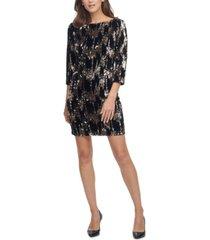eliza j velvet sequined shift dress