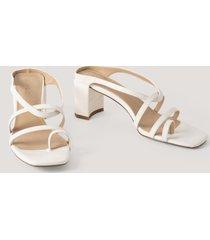 na-kd shoes högklackade sandaler - white
