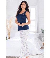 pijama mujer conjunto pantalón manga sisa 11499