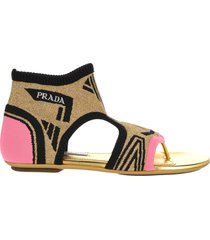 prada prada socks ankle sandals