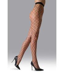 natori ultra maxi net tights, women's, black, size l natori