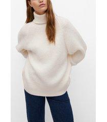 mango women's turtle neck knit sweater