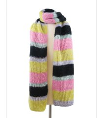 marcus adler bright knit striped scarf