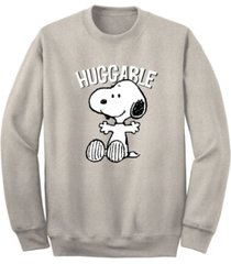 men's snoopy huggable crew fleece sweatshirt