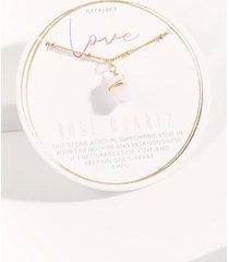 love stone pendant necklace - pale pink