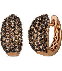 nude palette chocolatier® 14k strawberry gold® chocolate diamond® earrings