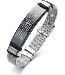 pulsera manilla hombres acero inoxidable 18.5cm 82373
