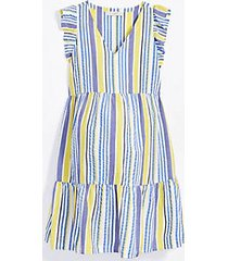 loft maternity striped flutter dress