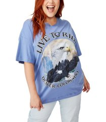 cotton on curve oversized graphic tee