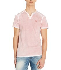 buffalo david bitton men's karox knit henley t-shirt