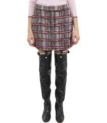 thom browne check tweed skirt