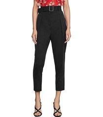 single pleated high-waist pants