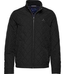 d1. the quilted windcheater doorgestikte jas zwart gant