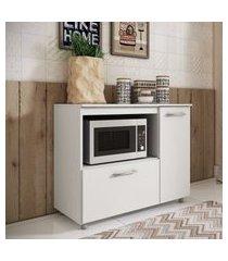 balcáo para forno elétrico ou microondas 2 portas branco