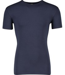 alan red bamboe t-shirt navy ronde hals